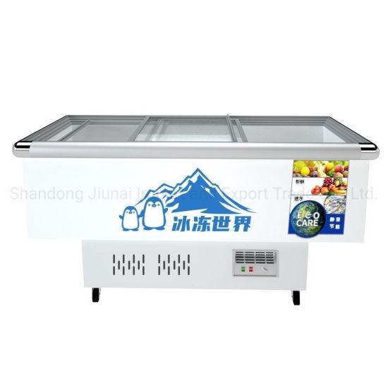 Island Refrigerator Food Fresh Meat Mini Fridge Home Appliances Deep Freezer for Supermarket