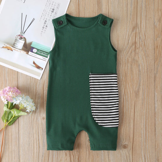 Toddler Romper Pit Stripe Sleeveless Jumpsuit Fashion Baby Clothes