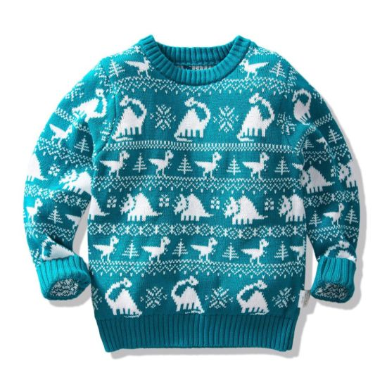 Hot Sales Dinosaur Series Double-Layer Knitted Pullover