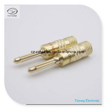 Banana Plug/Jack for Audio/AV/Media Cable Gold Colour pictures & photos