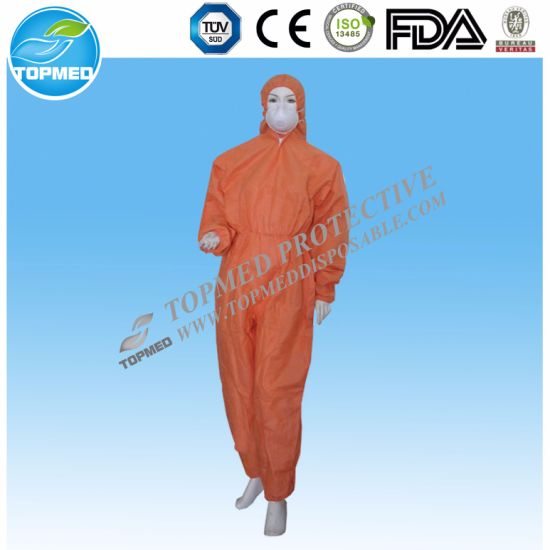 Industrial Use Disposable Workwear Nonwoven Worker Uniform