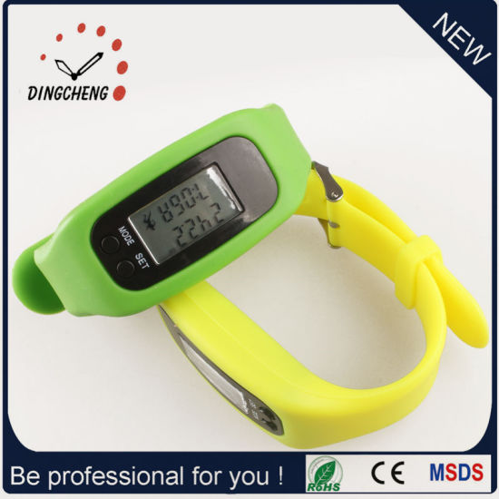 Digital Watches Pedometer Watch Ladies Wristwatch for Christmas (DC-001) pictures & photos