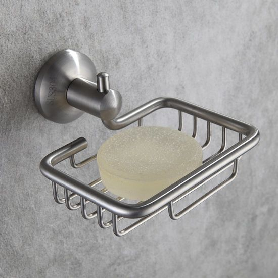 FLG Soap Dish Stainless Steel Bathroomu0026Kitchen Shower Soap Holder