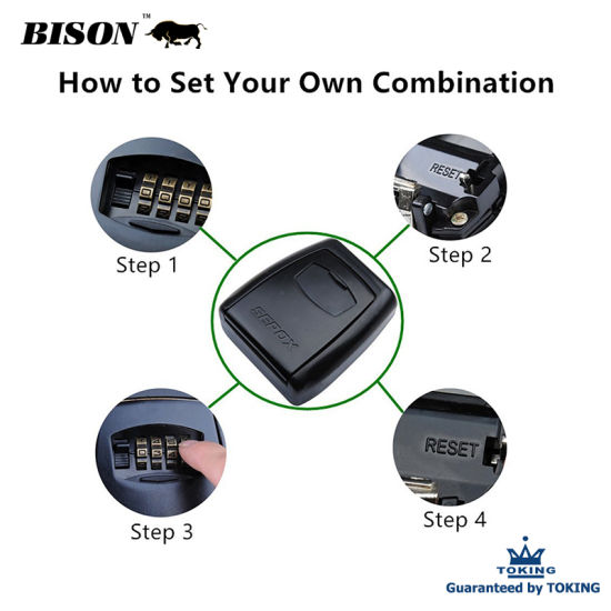 Steel Body Safe Door Combination Lock 4 Digit ABS Waterproof Resettable  Code Lock Box