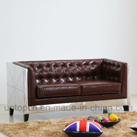 Special Design Living Room Sofa Furniture With Metal Structure And Pu Leather Upholstery Sp Ks338