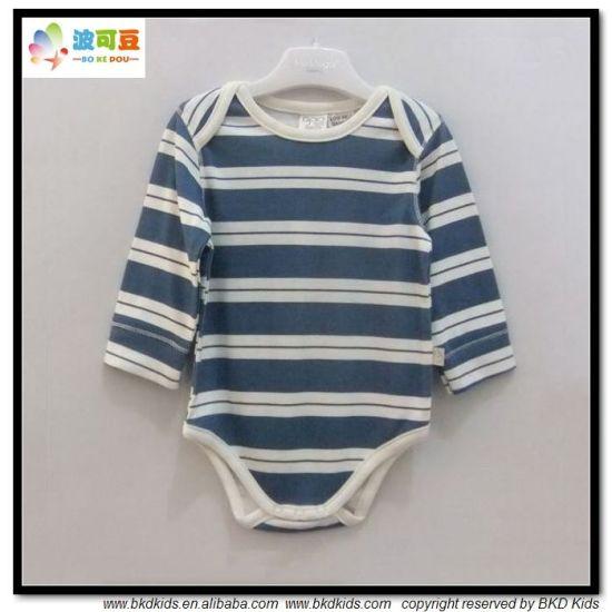 Long Sleeve Baby Wear Stripe Printing Toddler Bodysuit