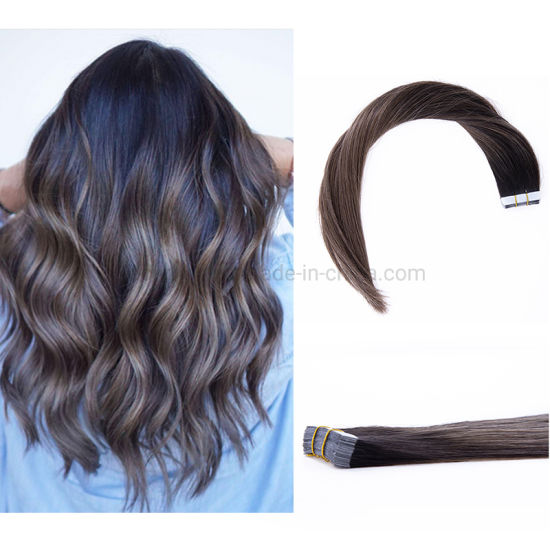 Professional Manufacturer Good Quality Products B#2/6 Hot Sale Chinese Human Virgin Natural Tape Hair in Stock