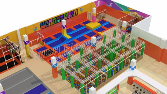 Indoor Trampoline Indoor Playground Amusement Park Mini Tramopoline 7115A pictures & photos