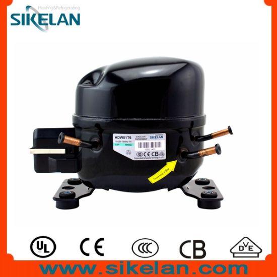 Small Volume AC Fridge Freezer Refrigerator R134A Hermetic Compressor Adw51t6 115V 150W