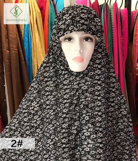 100cm*110cm Big 100% Polyester Fashion Moslem Printed Sleeve Cap pictures & photos