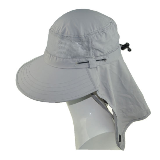 31e56d34 Fashion Baseball Cap Polyester Wide Brim Sun Protection Hats with Ear Flaps