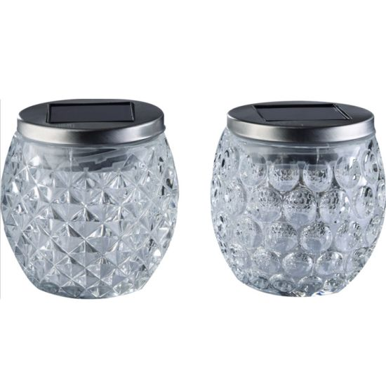 Chinese Manufacturer Balcony Decoration LED Solar Glass Jar Light pictures & photos