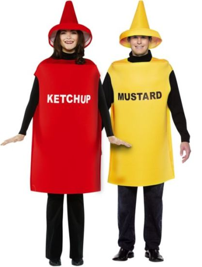 ab1bc6d1160 Promo Adult Ketchup   Mustard Classica Couples Costume (CPGC7004X) pictures    photos