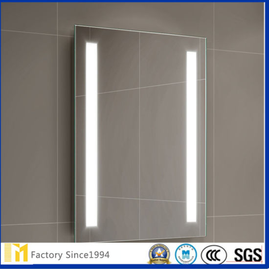 Promotional European Style Led Illuminated Bathroom Mirror With Infra Red Sensor Switch