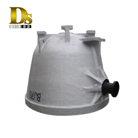 Densen Customized Super Large Cast Steel Slag Ladle or Slag Pot