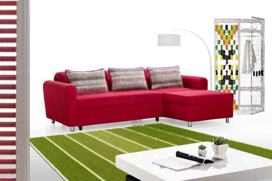 Tremendous Designed Fabric Corner Sofa Cum Bed With Storage Box China Inzonedesignstudio Interior Chair Design Inzonedesignstudiocom