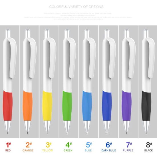 White Promotional Plastic Material Kugelschreiber Pen with Company Names