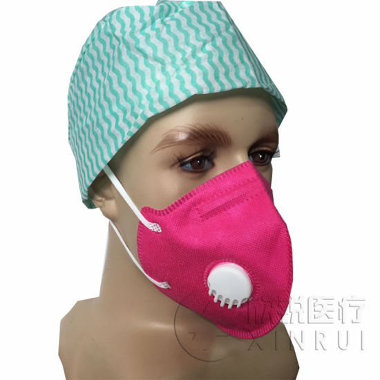 Disposable Industrial Protective N95 Face Mask with Valve Pink