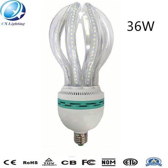 36W E27 Highlight Glass Clear Milky Lotus Shape LED Energy Saving Lamp