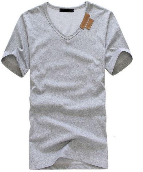 9b2025f1f5c6 China 100%Cotton Bulk Plain V Neck T Shirt - China 100% Cotton T ...