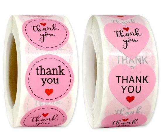 Matt Sticker Paper Printing Stickers Labels Custom Logo Thank You Stickers