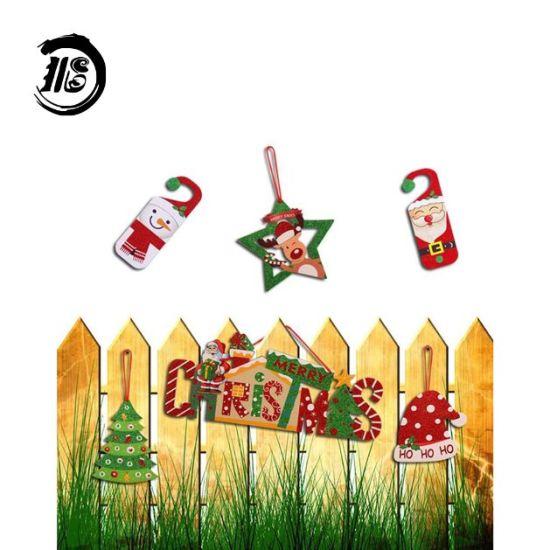 Christmas Decoration Supplies Door Handle Hanging Santa Snowman Pattern Pendant Christmas Products