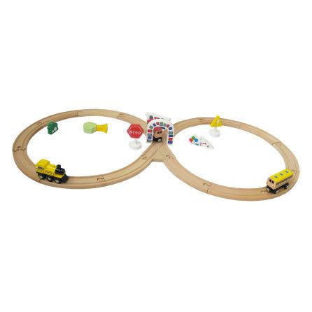 Wooden Toys - Railway Train, Kid Railway Train Set
