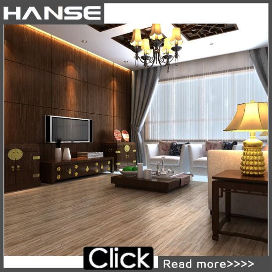 Gold Beige Wood Ceramic Matt China Tile 15X80cm/ 5D Wood Tiles/ Wood ...