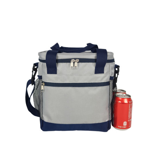 Waterproof Oxford Fabric Cooler Bag, Wholesale Customize High Density Food Lunch Insulated Polyester Picnic Wine Can Beer Bottle Zipper Handle Tote Delivery Bag