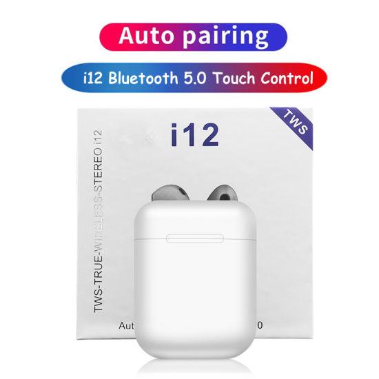 I12 Tws Smart Touch Mini 1: 1 Wireless Sports Earplugs Bluetooth 5.1 Headset Gaming Headphones Smartphone Accessories Mobile Phone Earplugs