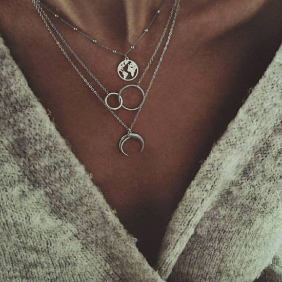 Women Charm Star Necklace Pendant  Chains Choker Fashion Jewelry Present