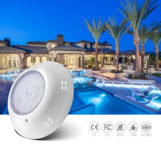 RGB Color Change Synchronous Control Plastic Shell AC12V 25W Wall Mounted Vinyl Swimming Pool Light