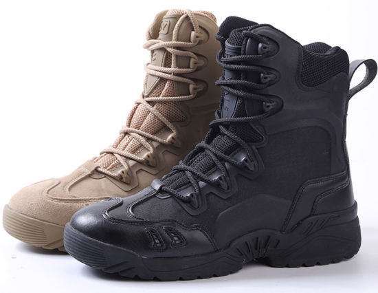 98708affa83b7d 2-Colors High Quality Ranger Desert Combat Army Tactical Military Boots  pictures & photos