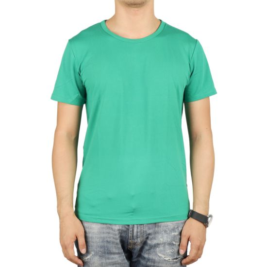 Cheap Price Milk Silk 160GSM Unisex T-Shirt for Promotional pictures & photos