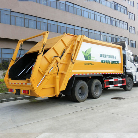 China Famous Brand Chassis Kingland Dongfeng 20cbm Garbage Truck pictures & photos