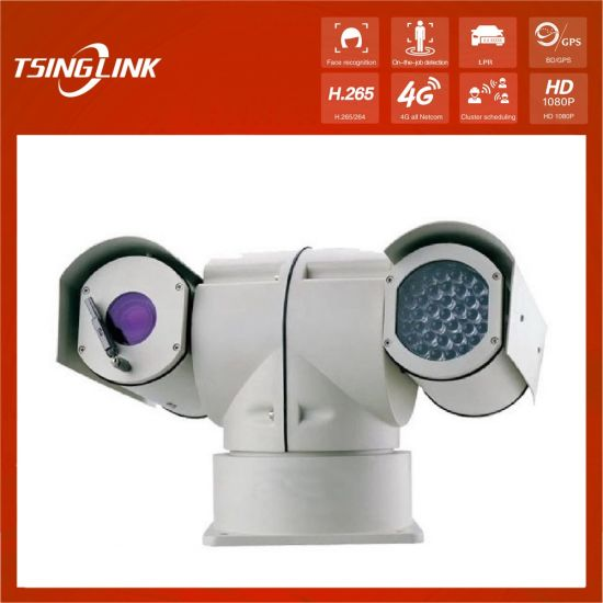 Remotely Surveillance Night Vision Infrared Intelligent Laser Vehicle Roof Mounted Rugged Police Car PTZ Camera pictures & photos
