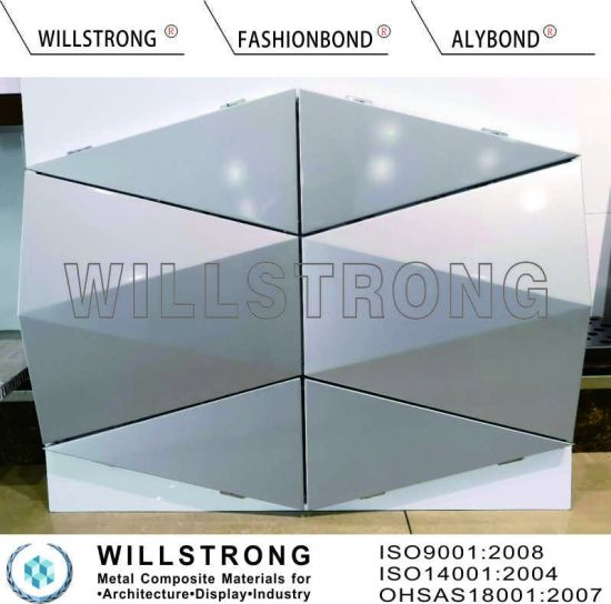 PVDF Feve Coated 3D ACP Aluminum Composite Panel for Exterior Wall Cladding pictures & photos