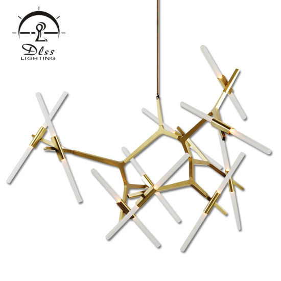 Contemporary Creative Light Gold Black Glass LED G9 Chandelier pictures & photos