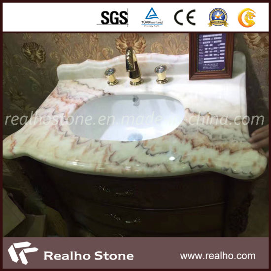 China White Beige Green Onyx Stone