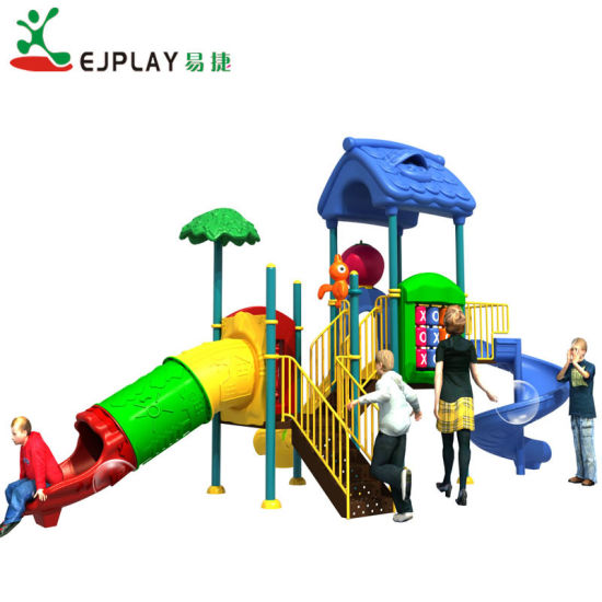 Mini Size Children Plastic Outdoor Playground with Slide