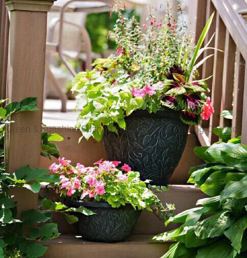 "Manufacturer Wholesale Modern Nordic Style High Quality Decorative Big Size 16"" Harmony Bell Plastic Flower Pot Plant Pot Garden Planter"