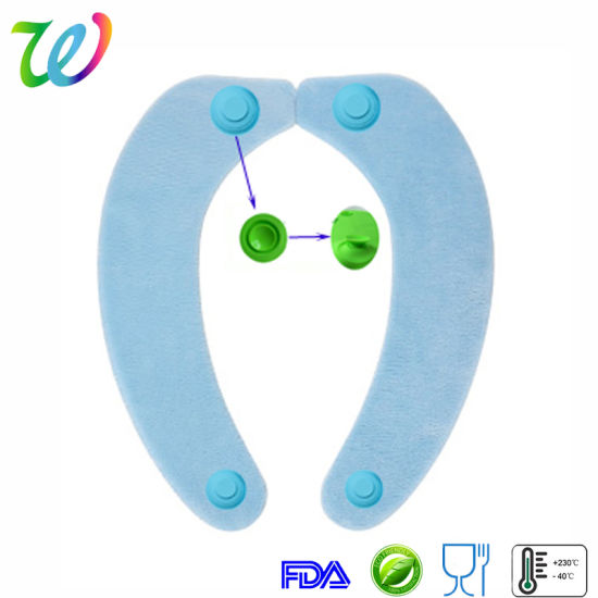 Silicone Recycle Portable Toilet Seat Cushion Washable Toilet Seat Cover
