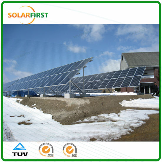 Aluminum Alloy Structure Easy Installation N-Tpye Solar Ground Mounting Structure