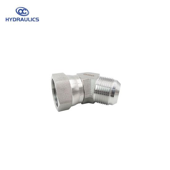 6502-04-04 Hydraulic Fitting 1//4 Male JIC X 1//4 Female JIC Swivel 45 Degree Carbon Steel