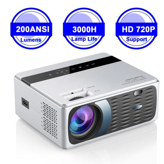 2020 New Cp600 LCD Projector 1280*720p 2000: 1 200ANSI Lumens Home Theater Projector