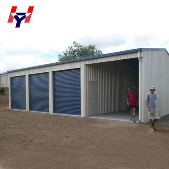 China Supplier Customized Easy Installation Prefab Garage Steel Structure