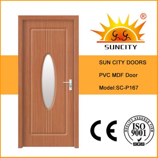 Balcony Room Wooden Modern Design Interior MDF PVC Door