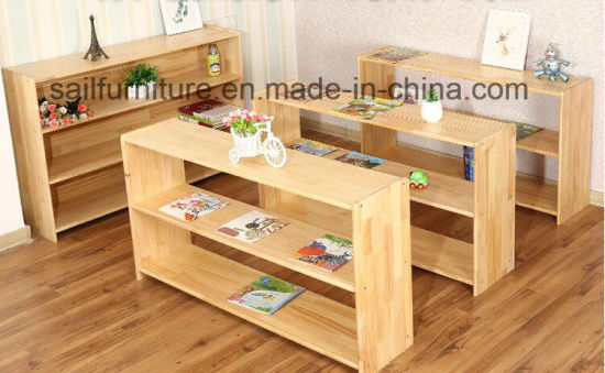 Wooden Kids Book Shelf Cabinet and Toy Storage