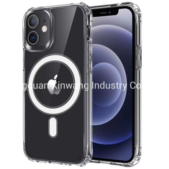 2021magnetic Clear Wireless Charger Phone Cover for iPhone 12, iPhone 12 PRO Phone Case