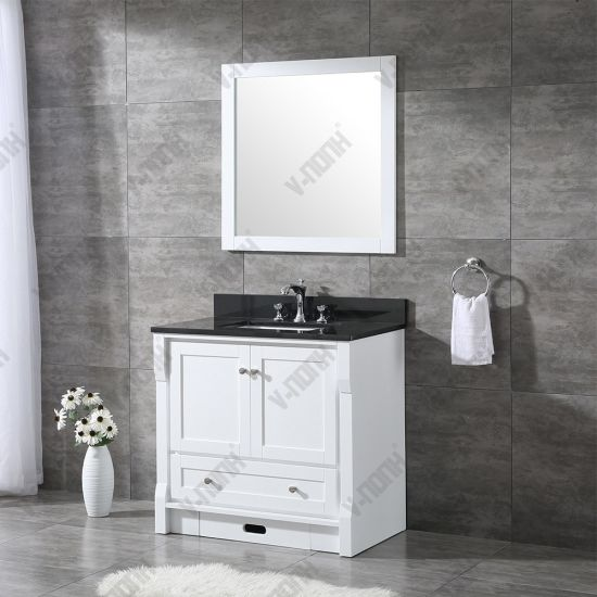 Single Sink White Bathroom Cabinet